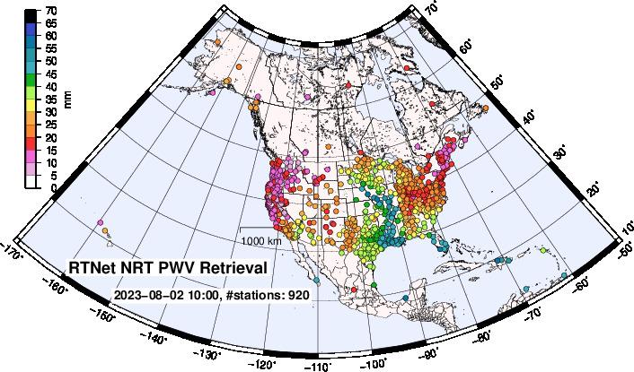 Realtime GPS PWV